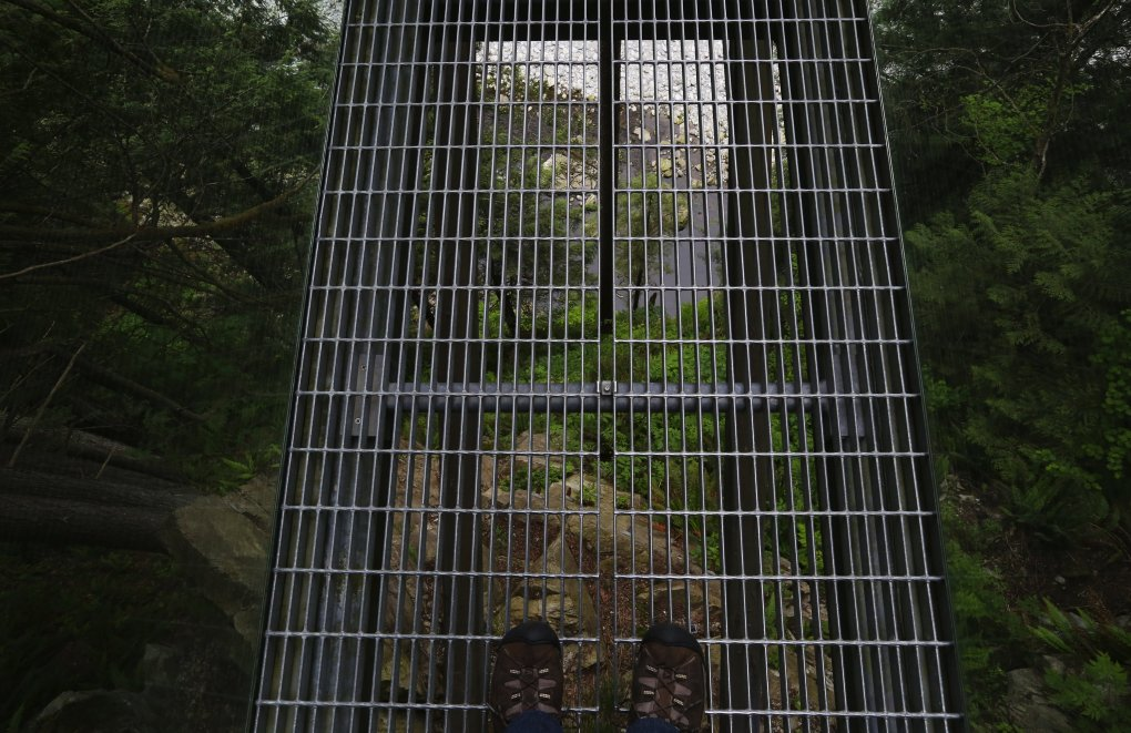 For people with height anxiety, the Cliffwalk at Capilano Suspension Bridge Park is probably not for them, though the views are spectacular.  (Alan Berner/The Seattle Times)