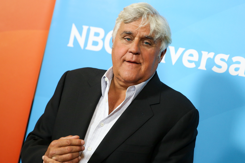 Jay Leno arrives at the NBCUniversal Summer TCA Tour at the Beverly Hilton Hotel on Thursday, Aug. 13, 2015, in Beverly Hills, Calif. (Photo by Rich Fury/Invision/AP)
