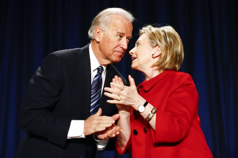 It has been reported that Joe Biden had been holding meetings at his residence to discuss a challenge to Hillary Rodham Clinton in Iowa and New Hampshire. (LUKE SHARRETT/NYT)