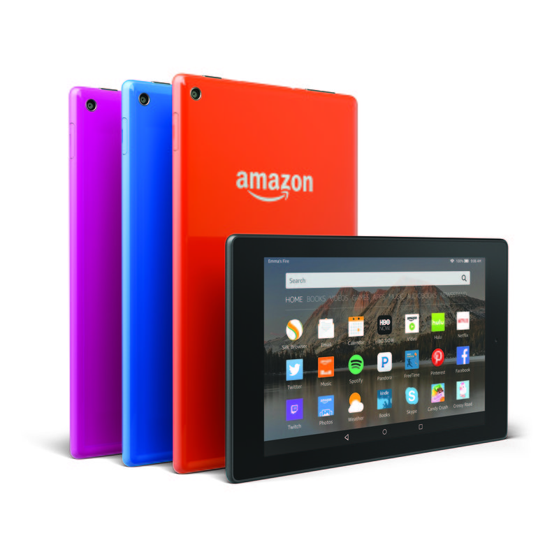 Amazon's new Fire HD 8 tablets come in different colors.; (Amazon.com)