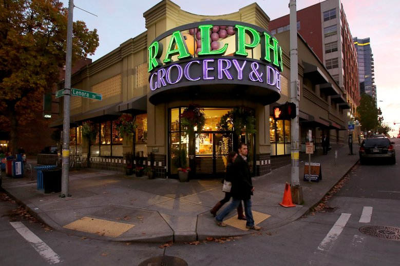 Ralph's Grocery & Deli at Fourth and Lenora  is closing at the end of the month. (Alan Berner / The Seattle Times)
