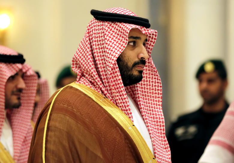 """In this Nov. 11, 2015, photo, Saudi Arabian Deputy Crown Prince Mohammed bin Salman attends a summit of Arab and Latin American leaders in Riyadh, Saudi Arabia. Saudi Arabia said Tuesday, Dec. 15, that 34 nations have agreed to form a new """"Islamic military alliance"""" to fight terrorism with a joint operations center based in the kingdom's capital, Riyadh. Mohammed bin Salman said the new Islamic military coalition will develop mechanisms for working with other countries and international bodies to support counterterrorism efforts. (AP Photo/Hasan Jamali)"""