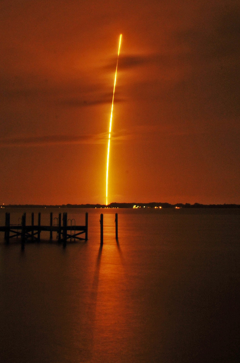 The launch of the SpaceX Falcon 9 on Monday was the first since an accident last June.  (Tim Shortt/AP)
