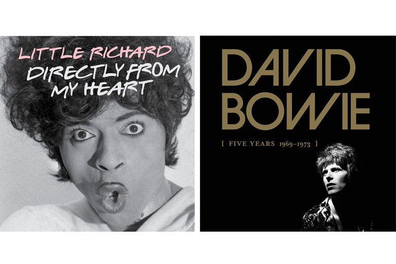 "Little Richard, ""Directly from my Heart,"" $23; David Bowie, ""Five Years 1969-1973,"" $97"