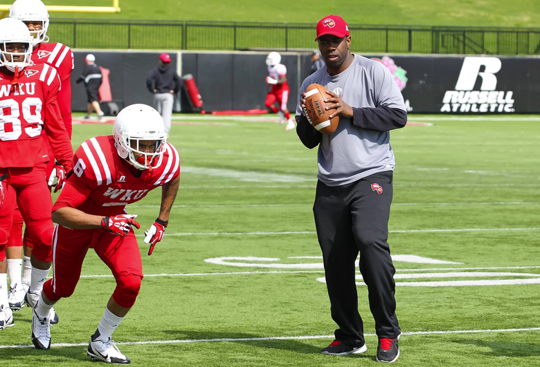 JaMarcus Shephard coached receivers and special teams at Western Kentucky, and turned down a chance to be the offensive coordinator. (Western Kentucky athletics)