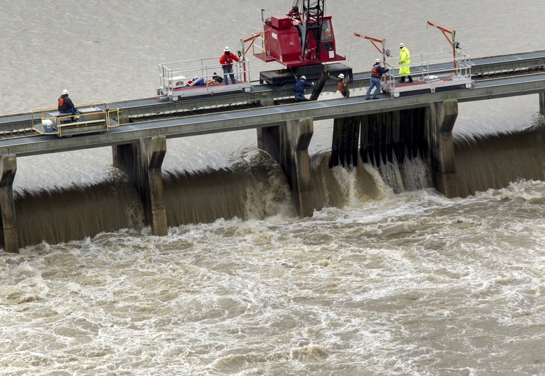 Spillway Of Swollen Mississippi River Open Near New