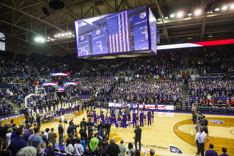 Saturday's game was a sellout.   (Dean Rutz / The Seattle Times)