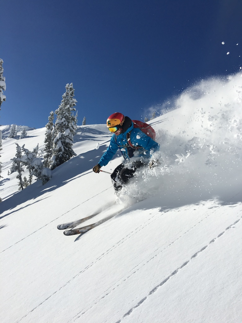 Matt Sommer of Seattle finds a fresh stash of powder in the Southback area at Crystal Mountain Resort. Photo courtesy of Matt Gallagher.