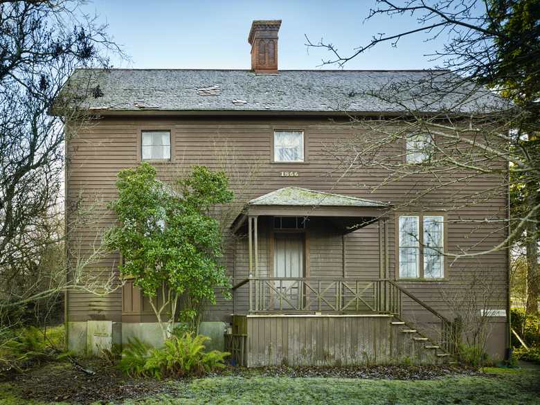 A historic preservation group on Whidbey Island says it needs $250,000 by April 1 just to begin the effort to save Granville Haller's 150-year-old house. (Benjamin Benschneider/The Seattle Times)