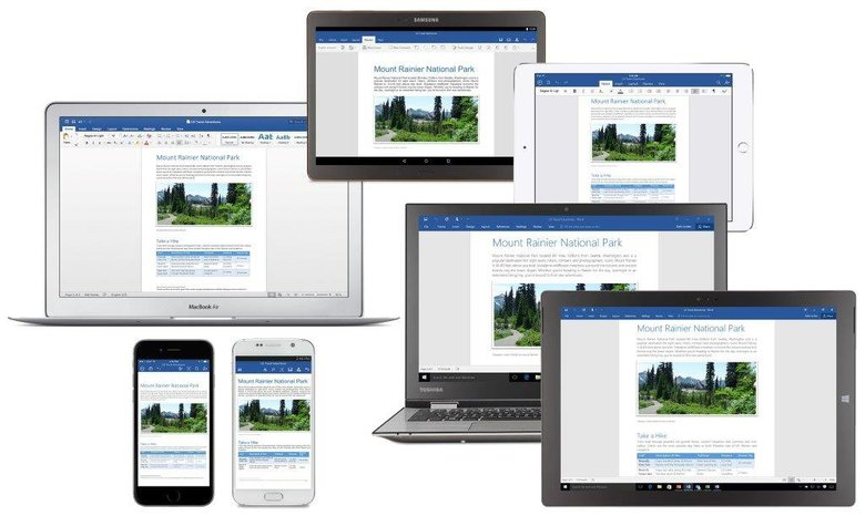 Microsoft Office 2016 can be used on a range of devices. In a recent posting the Redmond company reiterated the importance of software technology.  (Microsoft)