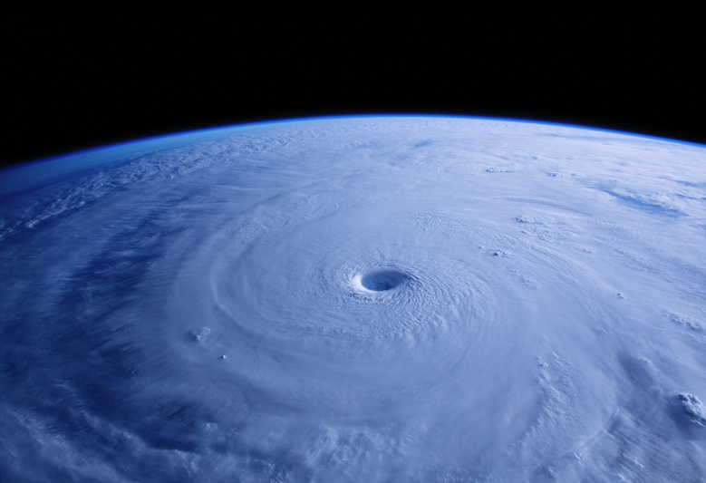 """A Beautiful Planet"" shows the 25-mile wide eye of Typhoon Maysak as seen from the International Space Station."