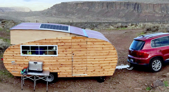 Not your grandpa's Airstream: Homegrown Trailers feature cedar siding. (Homegrown Trailers)