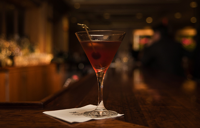 "A Peacock Alley Martinez cocktail, a drink featured in the updated ""Waldorf Astoria Bar Book,"" at the Waldorf Astoria's Peacock Alley in New York, April 20, 2016. The book, a trove of pre-Prohibition recipes first published in 1934 as ""The Old Waldorf-Astoria Bar Book,"" has been updated by Frank Caiafa, the manager of the hotel's Peacock Alley bar. (Sasha Maslov/The New York Times)"
