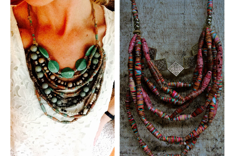 Paper Beadery's Paperbead Necklaces