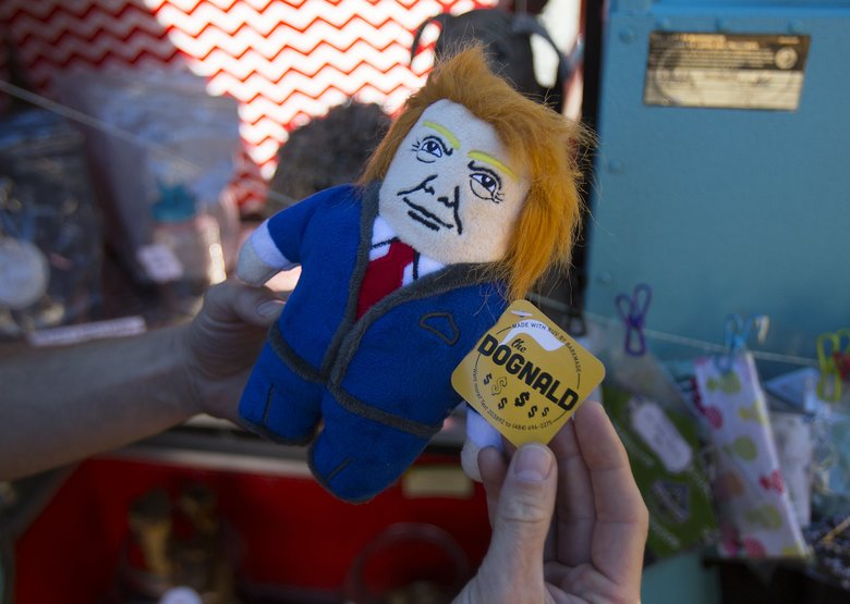 Let your dog chew on this guy: The Dognald is one of the many toys and treats for sale at The Seattle Barkery. (Sy Bean/The Seattle Times)