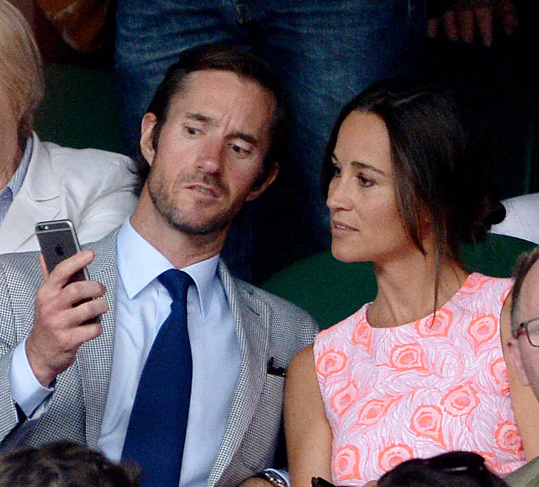 Pippa Middleton and James Matthews last year at the Wimbledon Championships near London. The couple will be married Saturday. (Anthony Devlin / via AP)