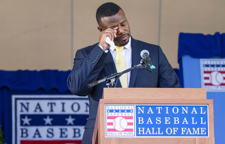 Ken Griffey Jr. and Mike Piazza were inducted into baseball's Hall of Fame Sunday, July 24, 2016 in Cooperstown, NY.