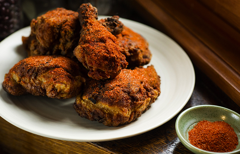 UNDATED — BC-NYTCOOKING-FRIED-CHICKEN-ART-NYTSF — Nashville-style fried chicken. (CREDIT: Evan Sung for The New York Times)