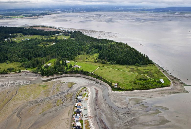 A view of Barnum Point, a birding and beach area on Camano Island where conservationists hope to establish one of the biggest beach parks in the county. (Benjamin Drummond / LightHawk)