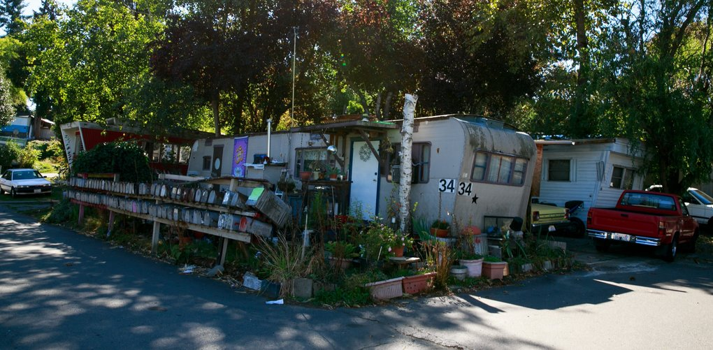 University Trailer Park is due to close in May of 2017. The property will be developed into 89 townhomes.  (Erika Schultz/The Seattle Times)