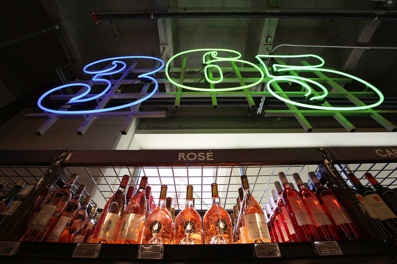 The 365 by Whole Foods Market store has a selection of 400 wines, all costing less than $20. (Ellen M. Banner/The Seattle Times, 2016)