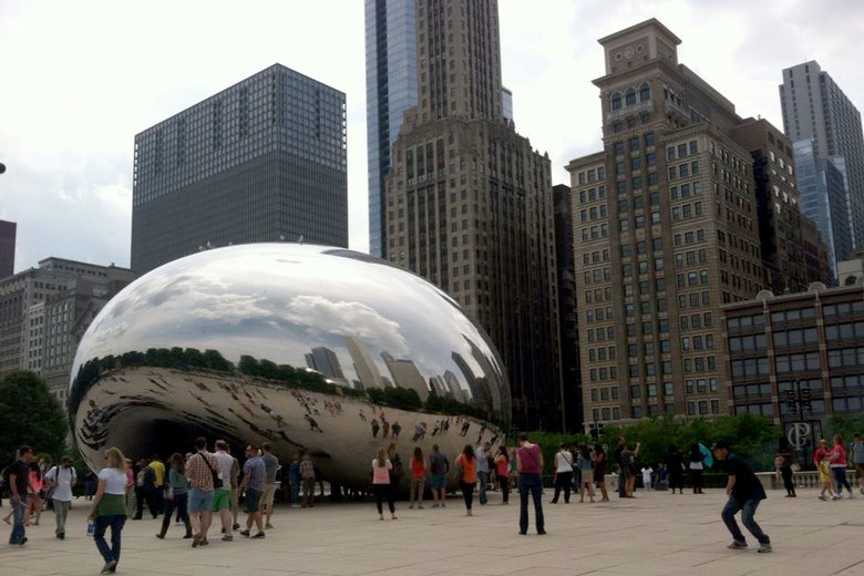 """The bean"" is a major draw at Millennium Park."