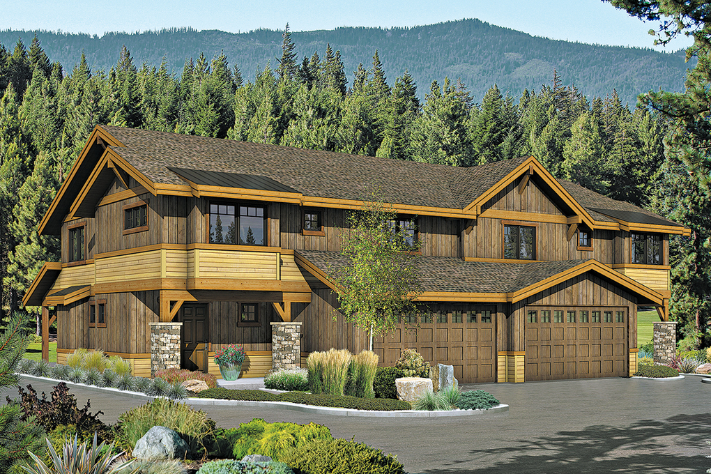 This rendering is representative of the townhomes that will be available at Trailside.