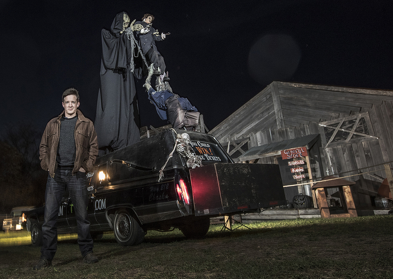 Matt Dunn, the owner of Scream Town near Chaska, Minn., has collected scary decorations and Halloween gear since he was 10. (Carlos Gonzalez / Minneapolis Star Tribune via TNS)
