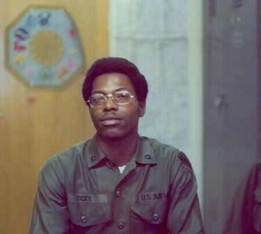 Notrip Ticey III served in the Army from 1972 to 1994. He is shown in Hanau, Germany, around 1975-76.  (Courtesy Notrip Ticey III)