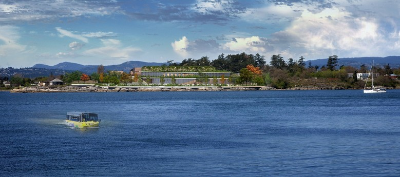 Rendering of the Victoria, B.C., region's sewage treatment plant.