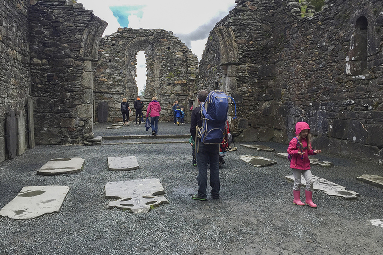 The monastic buildings in Glendalough, a popular destination for tourists that also is accessible from the Wicklow Way. (Kelly Smith/Minneapolis Star Tribune/TNS)