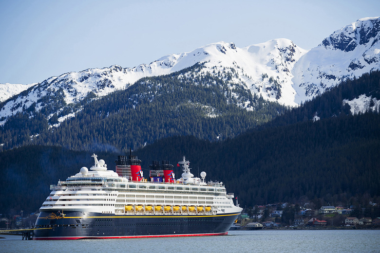 The Disney Wonder cruise ship near Juneau as part of its Alaska itinerary. (Matt Stroshane)