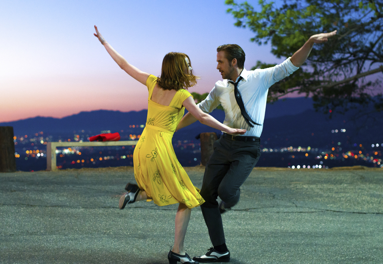 "Emma Stone and Ryan Gosling make all the right moves in ""La La Land."" (Dale Robinette/AP)"