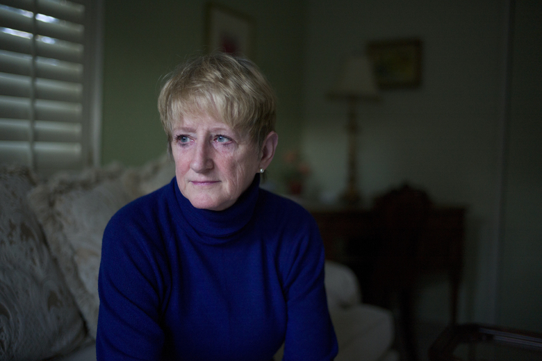 Teena Colebrook, 59, poses for photos Wednesday, Nov. 30, 2016, in San Luis Obispo, Calif.  When Donald Trump named his Treasury secretary, Teena Colebrook felt her heart sink. She had voted for Trump on the belief that he would knock the moneyed elites from their perch in Washington, D.C. But she knew Trump's pick for Treasury, Steven Mnuchin, all too well. His bank had foreclosed on her home. (AP Photo/Jae C. Hong)