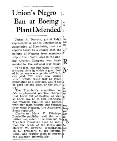 Even months after it became illegal for defense companies to discriminate, the union defended its ban.