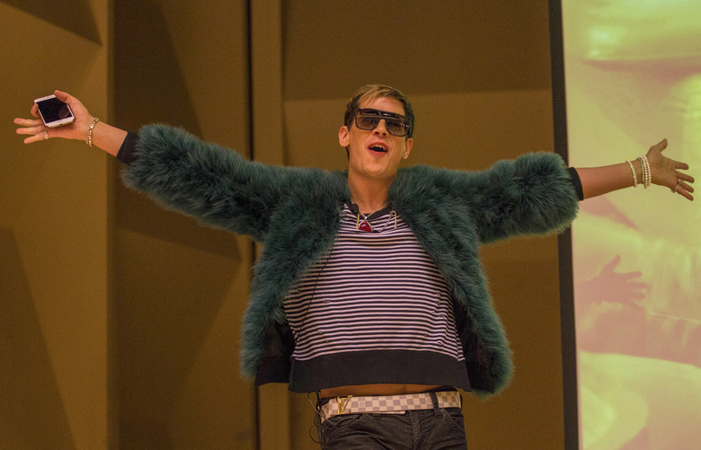 Controversial Bretibart News editor Milo Yiannopoulos was to speak at the University of Washington's Kane Hall Friday, January 20, 2016.