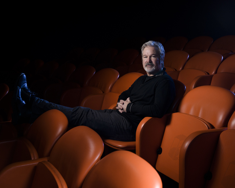 "In this Feb. 13, 2017 photo, filmmaker Gore Verbinski poses for a portrait to promote his film, ""A Cure For Wellness"" in New York. (Photo by Drew Gurian/Invision/AP)"