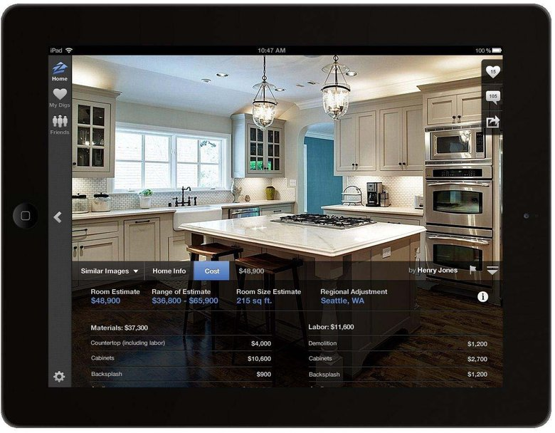Screenshot from Zillow Digs, a home furnishing feature on the Zillow website. (Zillow)