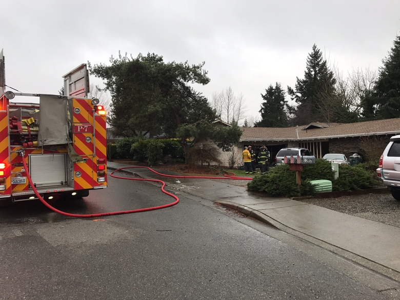 "Bellevue Police say the fire was sparked by a ""homemade"" electrical panel. (Bellevue Police Dept.)"