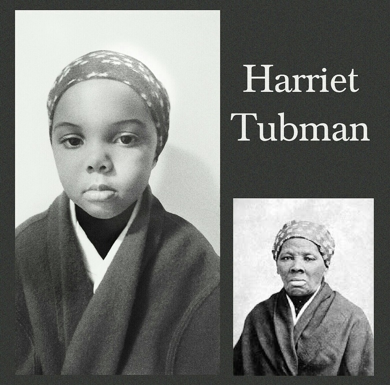 Lola Jones poses as abolitionist Harriet Tubman, who led slaves to freedom through the underground railroad. (Courtesy of Cristi Jones)