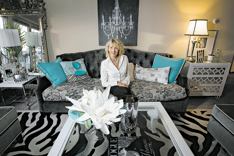 "Designer Sue Hunter decorated her apartment in Minnetonka, Minnesota, in what she described as a contemporary style with ""French flair."" (Carlos Gonzales / Minneapolis Star Tribune)"