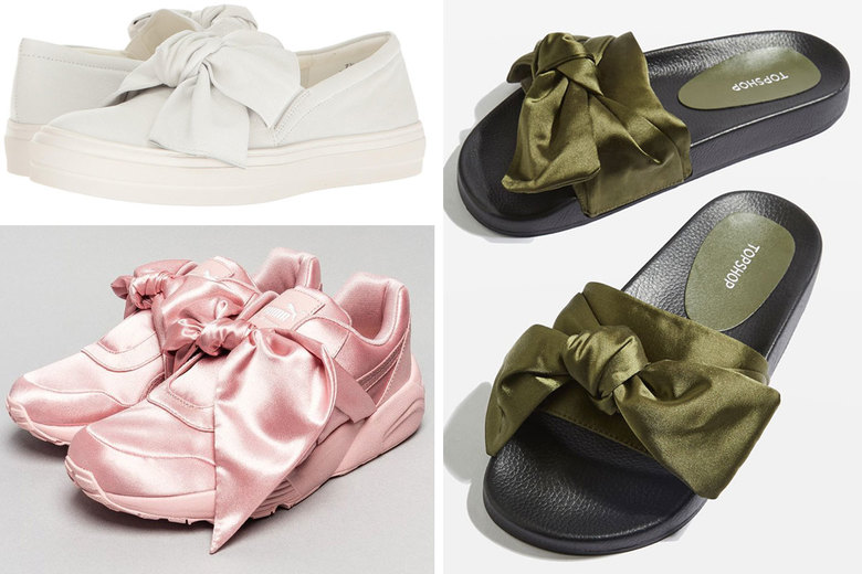 9dc33f22e125 Clockwise from top left  Nine West Onosha Bow Flatform Sneakers