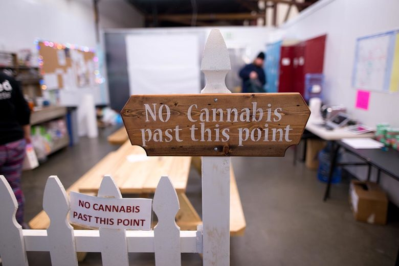 Unlike most of botanicaSEATTLE's facility, cannabis isn't allowed in its break room. The company makes low-dose mints and brownies, favored by some as a work aid. Licensed marijuana facilities must have cameras recording 24 hours a day except in designated cannabis-free zones. (Courtesy of Mark Coffin)