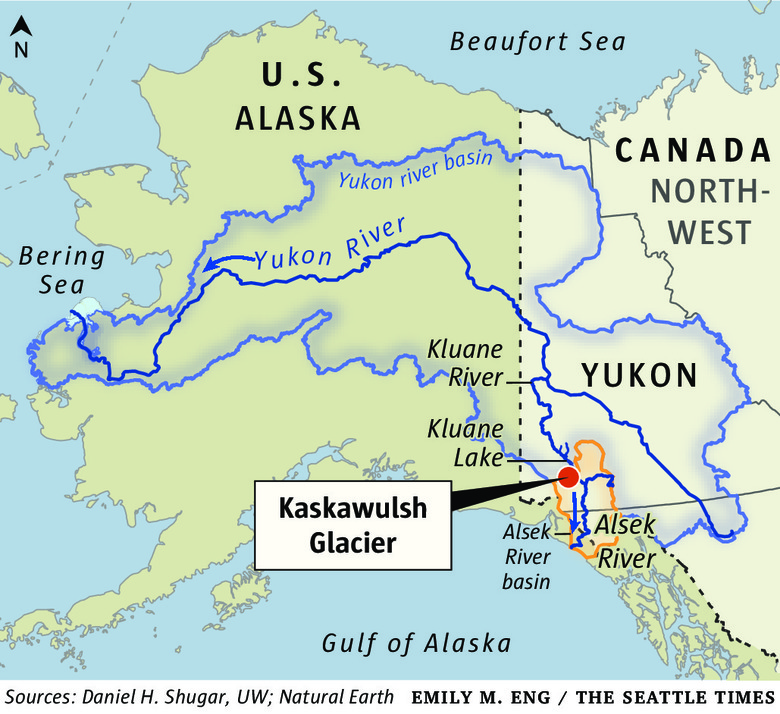 Climate Change Reverses Flow Of A Yukon River In Geological - Yukon river map