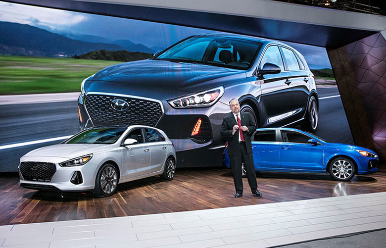 The Hyundai Elantra GT for 2018 offers the versatility of a hatchback along with premium features such as heated leather seats and push-button starting. (TRIBUNE NEWS SERVICE)