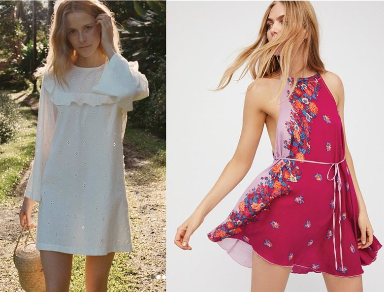 Doen Bronte Dress, $159; Free People It's a Cinch Slip, $88