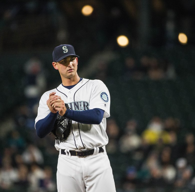 Chase De Jong brought a 7.85 ERA into Safeco Field Tuesday, and a 0-3 record. (Dean Rutz/The Seattle Times)