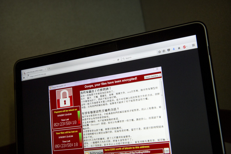 Ransomware infections reported worldwide
