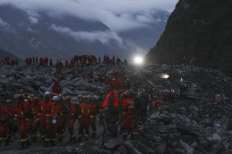 China landslide: 15 dead, 120 in Sichuan village