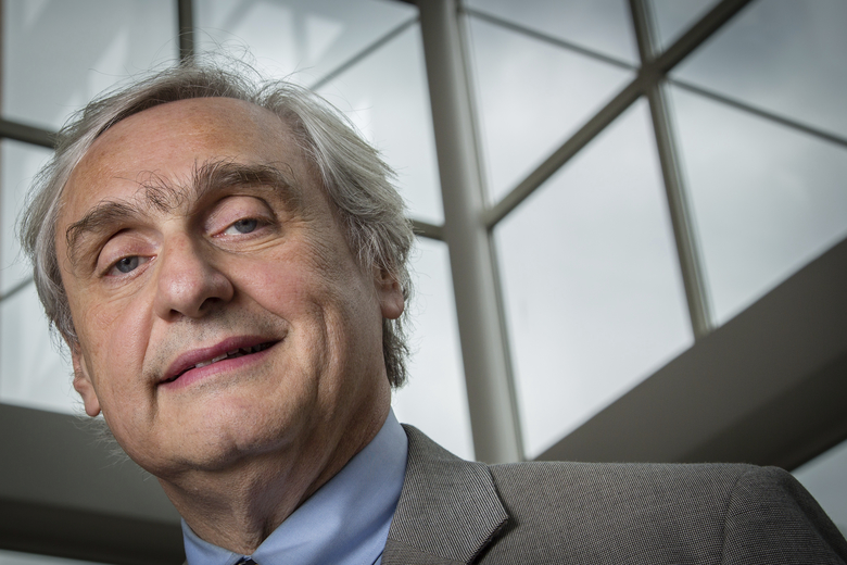 FILE – In this July 24, 2014, file photo, Chief Judge of the U.S. Court of Appeals for the Ninth Circuit Alex Kozinski poses for a portrait in the lobby of a Washington office building. The nation's largest federal court circuit is set for its annual meeting after a contentious six months that has seen its judges repeatedly clash with President Donald Trump, and its agenda is not shying away from topics that have stoked the president's ire. Immigration, the news media and meddling in the U.S. election are among the subjects that will be discussed at the 9th Circuit's four-day conference in San Francisco that begins on Monday, July 17, 2017. (AP Photo/J. David Ake, File)